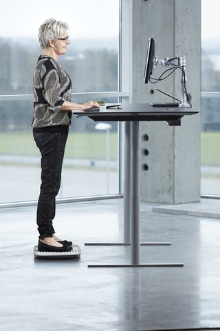Victor ST590 Soft Top Steppie Standing Desk Mat Gray - Standing Desk Center