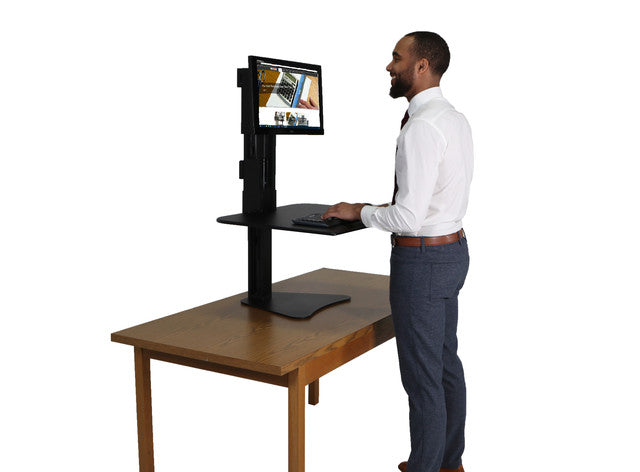 Victor DC300 High Rise™ Manual Single Monitor Standing Desk - Standing Desk Center