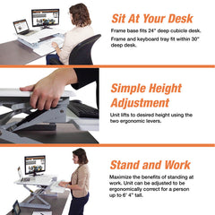 Victor DCX710W High Rise™ Height Adjustable Standing Desk 31