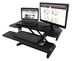 Victor DCX650 High Rise™ Corner Sit Stand Workstation with Keyboard Tray 36