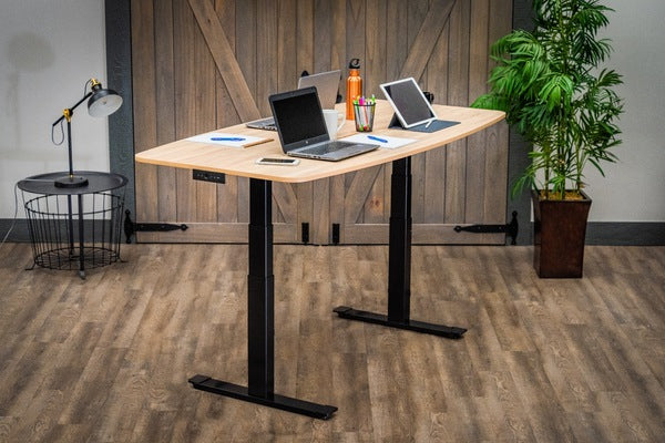 Luxor STANDECT72WO Electric Adjustable Conference Table 72 inch - Standing Desk Center