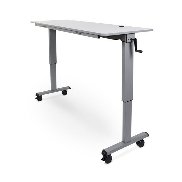 "Luxor STAND-NESTC-60 60"" Adjustable Height Flip-Top Desk w/Crank Handle - Standing Desk Center"