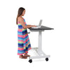 Image of Luxor STANDUP-SC40-WB Single-Column Crank Stand Up Desk 40 inch - Standing Desk Center