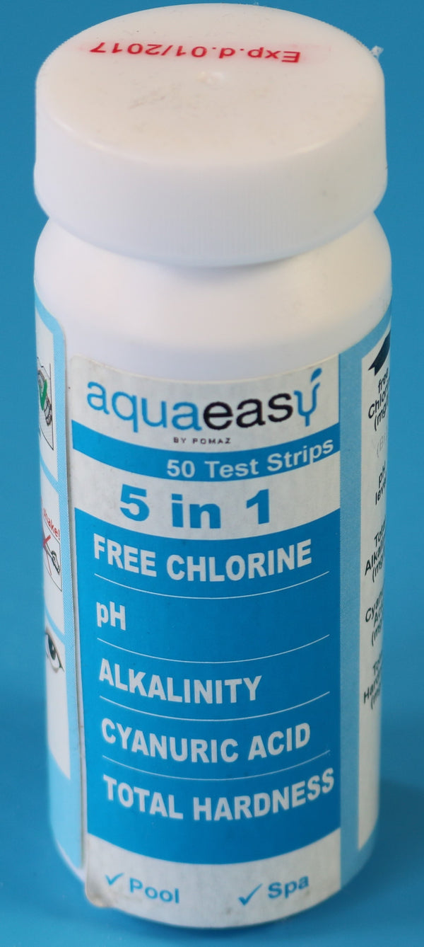 Aqua Easy 5 in 1 teststrips - Monotherm Webshop