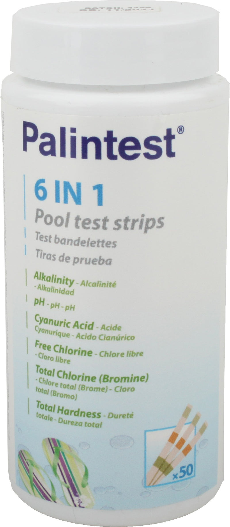 Palintest 6-in-1 teststrips - Monotherm Webshop