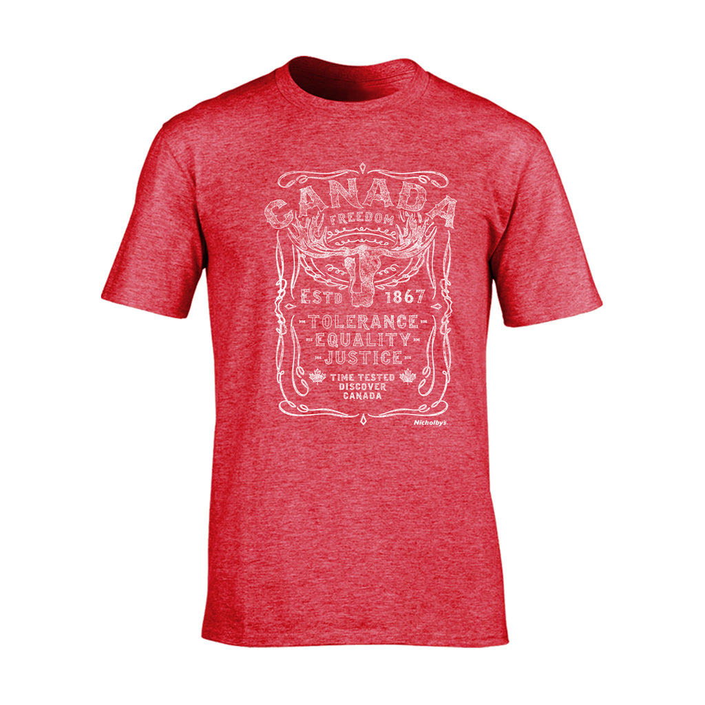 Canada Heather Red Adult t-shirt