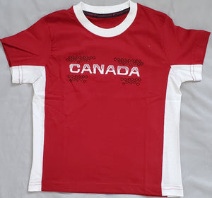 Canada Full Front Embroidery Youth T-shirt