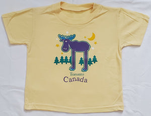 Canada Moose Full Front Moose Child t-shirt
