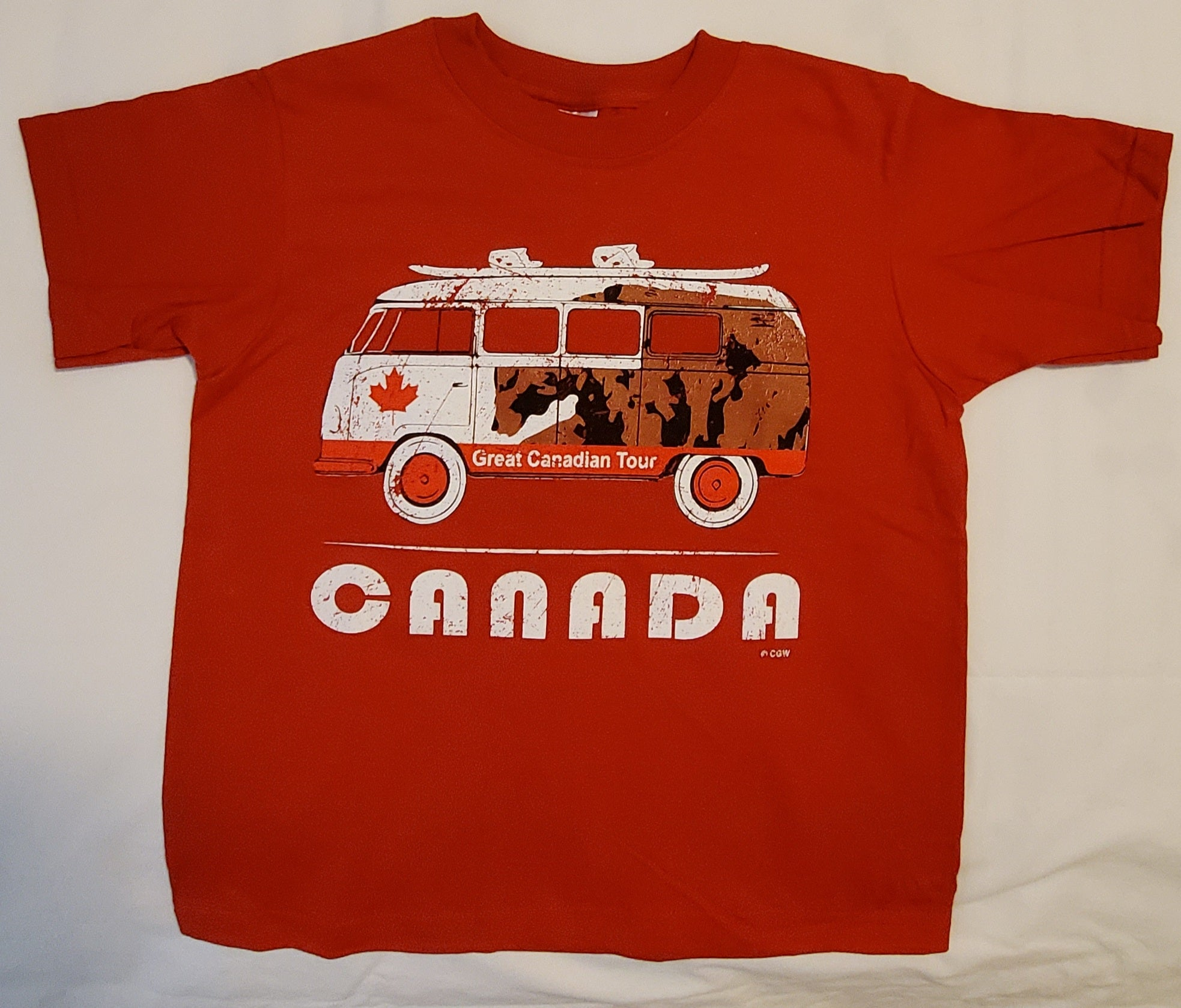 Canada Bus Red Youth t-shirt