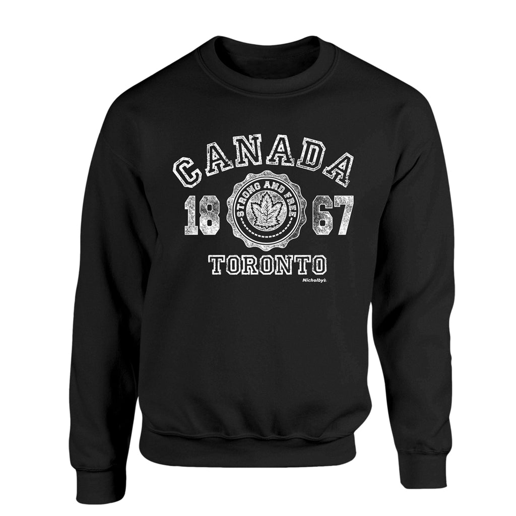 Black Canada Adult Sweatshirt