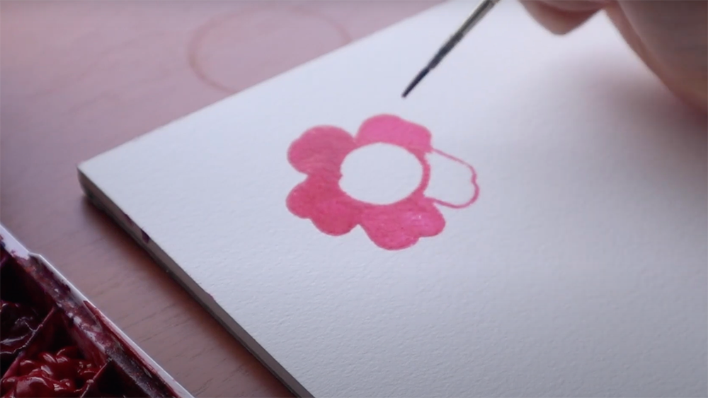 how to watercolor flowers step by step