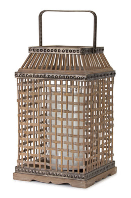 Bamboo and metal lantern - Annelisse's