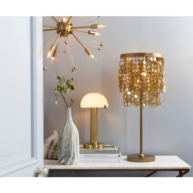 GLAM/BOHO Acrylic tassel lamp in champagne - Annelisse's