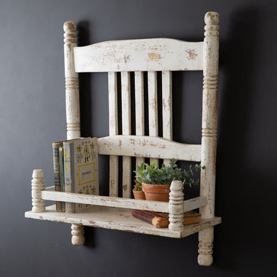 Farmhouse Chair Shelf, available 2/17/21--preorder - Annelisse's