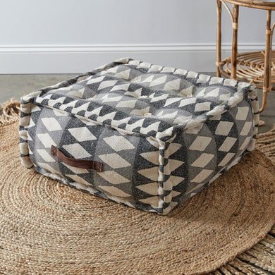 Diamond Print Floor Pouf, available 02/17/21--Preorder - Annelisse's