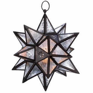 Moroccan style star lantern, clear - Annelisse's