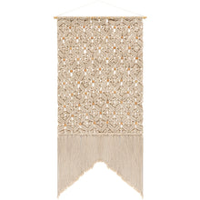Load image into Gallery viewer, Cream patterned macrame wall hanging - Annelisse's