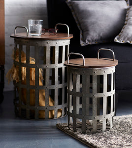 Rustic set of 2 side tables, avail for pre-order--ships may 2 - Annelisse's