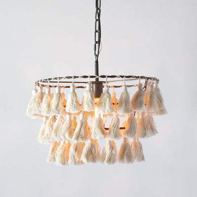 Farrah Tassel Pendant lampshade, available 02/17/21--Preorder - Annelisse's