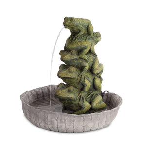 Resin Stacked Frog fountain - Annelisse's