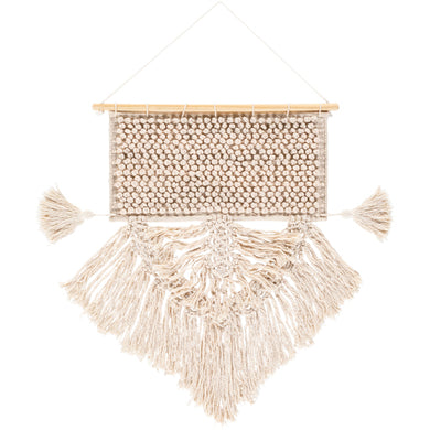Beige and cream colored macrame decor - Annelisse's
