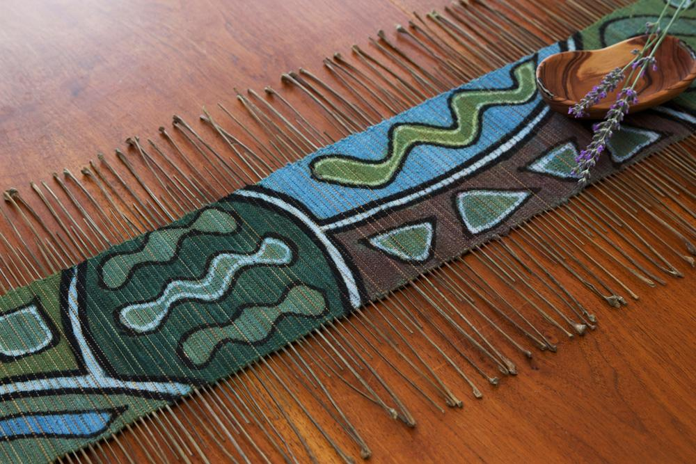 Blue twig Mali Table runner - Annelisse's
