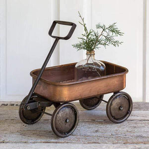 Copper Wagon Planter - Annelisse's