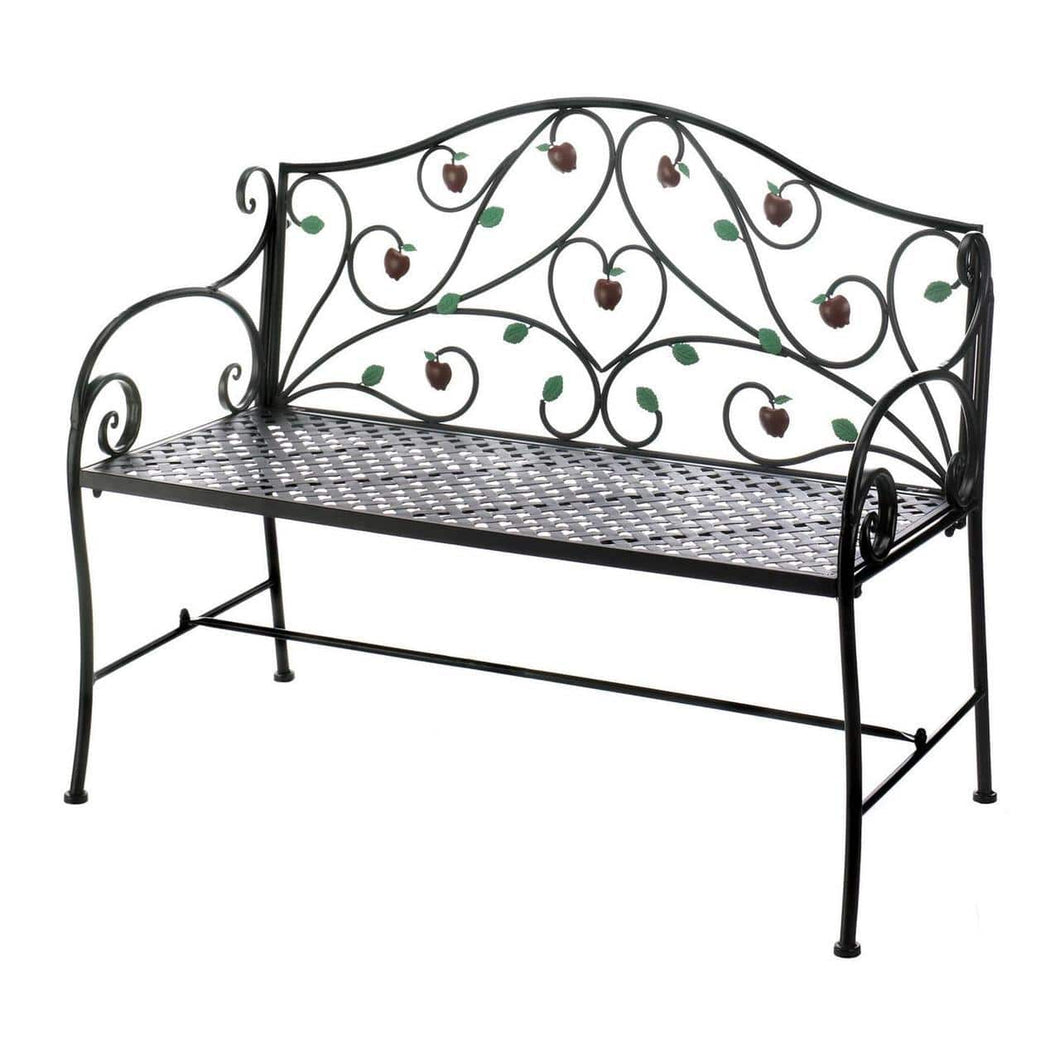 Country apple Iron Garden Bench - Annelisse's