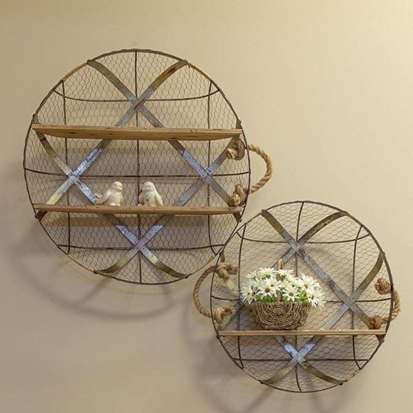 Decorative metal and wood shelves - Annelisse's