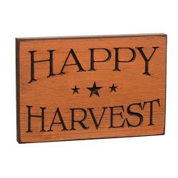 Happy Harvest Carved sign - Annelisse's