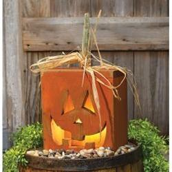 Jack O Lantern Light Box w/Black Cord and 7W Bulb - Annelisse's