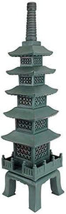 The Nara Temple Pagoda Asian Decor Garden Statue, 28 Inch, Polyresin Green Bronze - Annelisse's