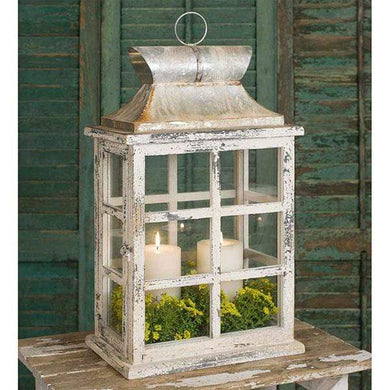Large Windowpane Lantern - Annelisse's
