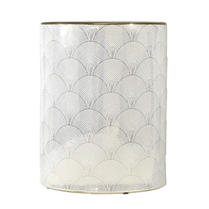 Ceramic patterned Stool, 18 in. - Annelisse's