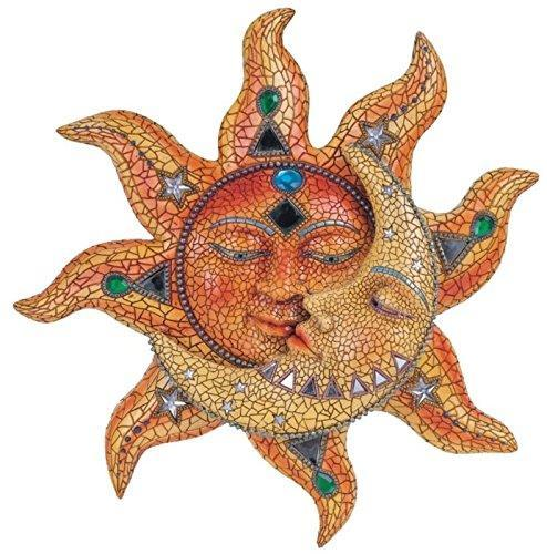 Polyresin Mosaic Face Sun and Moon, 13