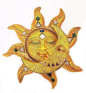 "Polyresin Mosaic Face Sun and Moon, 13"": Home & Kitchen - Annelisse's"