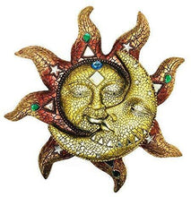 "Load image into Gallery viewer, Polyresin Mosaic Face Sun and Moon, 13"": Home & Kitchen - Annelisse's"