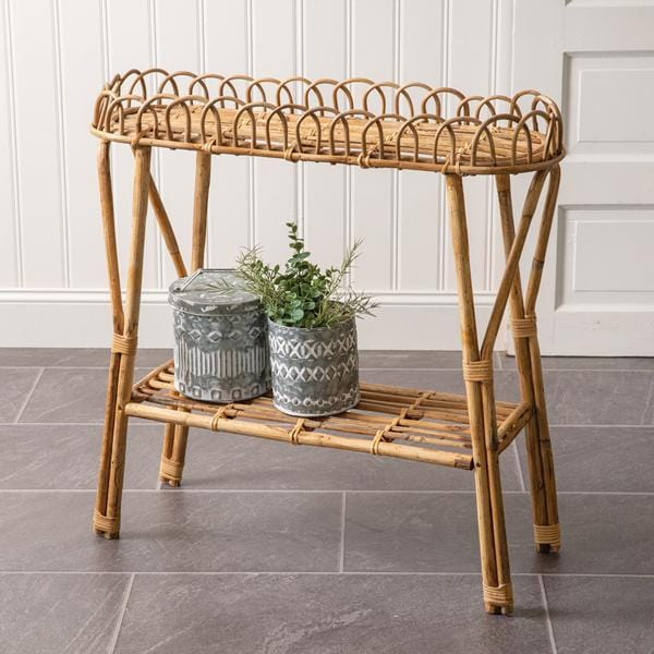 Rattan accent table (freight ship, see details below) - Annelisse's