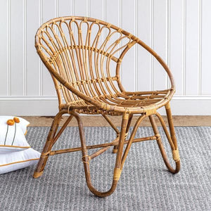 Round Rattan chair(shipping details below) Freight shipping. - Annelisse's