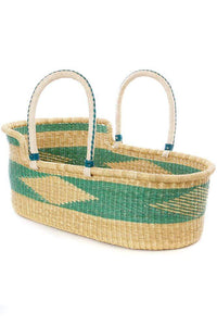 Ghanaian Moses Basket with leather handles, multiple colors available - Annelisse's