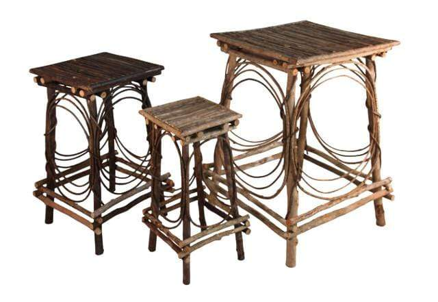 Set of 3 twig tables - Annelisse's