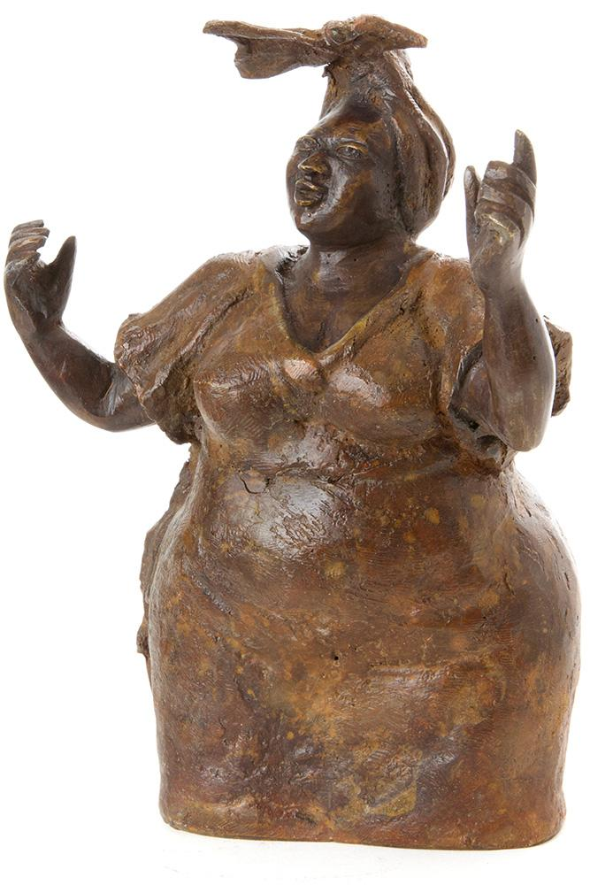Glory Brown Burkina Bronze Sculpture in Three Sizes - Annelisse's