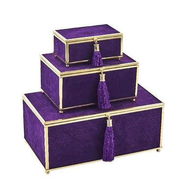 Velveteen boxes with tassels - Annelisse's