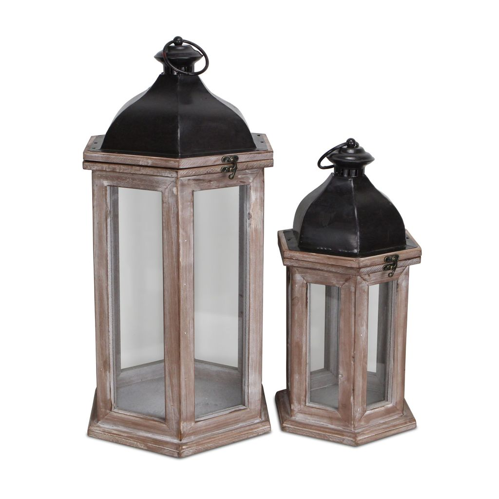 Set of two farmhouse style lanterns - Annelisse's
