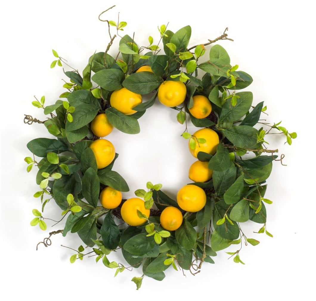 Bright and cheery lemon wreath - Annelisse's