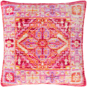 Jumbo Pink bohemian floor pillow with Down insert - Annelisse's