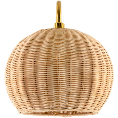 Rattan accent wall sconce - Annelisse's