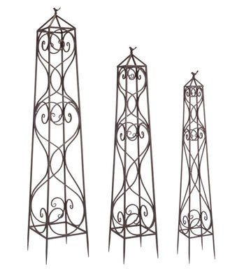 Set of three metal garden trellis - Annelisse's