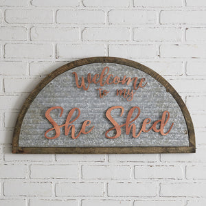 Galvanized She Shed sign, available 2/17/21 Preorder - Annelisse's
