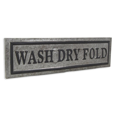 Vintage metal Laundry sign: